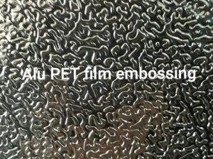 Alu PET film Embossing